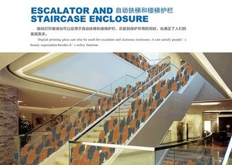 China Custom Tempered Laminated Safety Glass For Escalator / Staircase Enclosure supplier