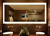 6mm Copper Free Mirror , High Grade Silver Bathroom Mirror With Safety Film