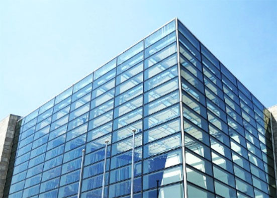 Curtain Wall Clear Tempered Glass / Frosted Security Glass With Good Heat Stability