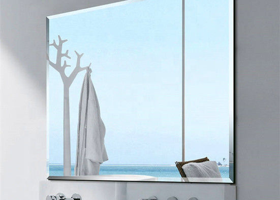Erosion Resistant Decorative Mirror Glass , Custom Cut Mirror Glass For Bathroom