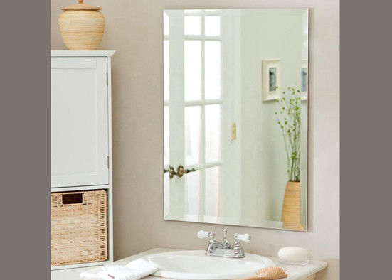 Attractive Silver Mirror Sheet / Decorative Bathroom Wall Mirrors 4mm Thickness