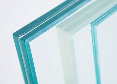 China Decorative Clear Laminated Safety Glass , 0.76PVB+6mm Glass Tempered Glass factory