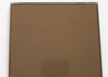 China 3mm Bronze Tinted Mirror Glass Multi Color With Good Erosion Resistant factory