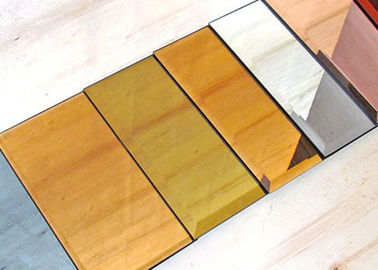 China 5mm Decorative Tinted Beveled Glass Mirror , Large Wall Mirror Glass factory