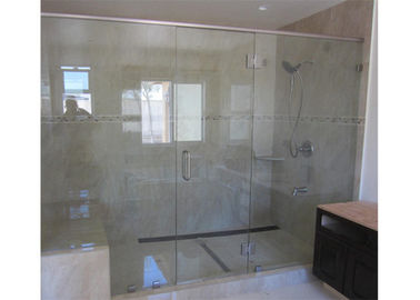 China Clear Color Shower Bath Enclosures Glass , Tempered Safety Glass With Frame distributor