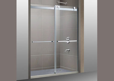 China Customized Bath Shower Glass , Clear Toughened Glass 4-12mm Thickness factory