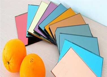 China Eco Friendly Decorative Tinted Glass , 3mm Thickness Colored Mirror Glass factory
