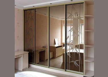 China Sliding Door Tinted Mirror Glass 3mm Thickness Multicolor Size Customized factory