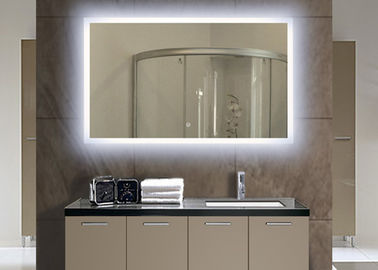 China Home Illuminated Bathroom Mirror , Customized Rectangle Mirror With Lights factory