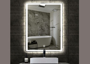 China Stylish  Rectangle Vanity Mirror , Illuminated Wall Mirrors For Bathroom distributor