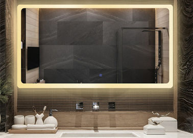 China Classic Smart LED Bathroom Mirror Rectangle Shape Size Custom For Luxury Hotel factory