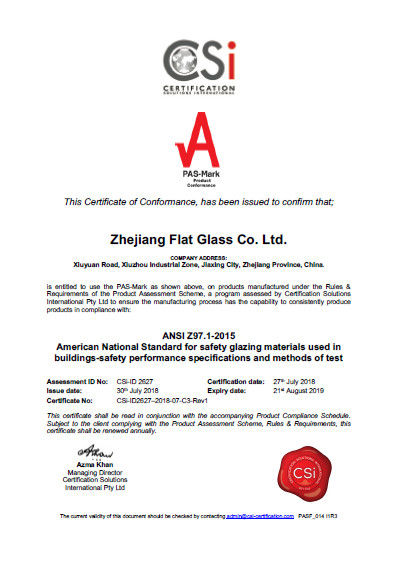 Zhejiang flat Glass CO.,LTD